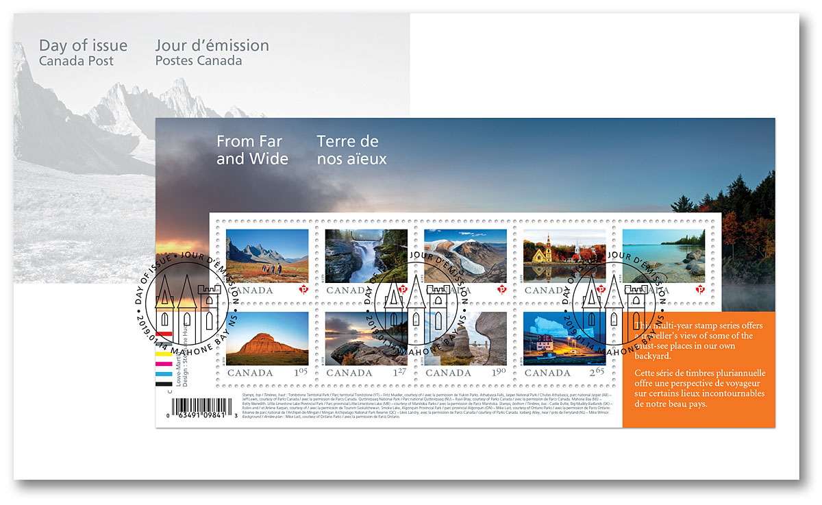 Canada - Far and Wide (January 14, 2019) souvenir sheet first day cover