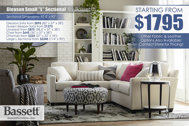 Gleason Small Sectional by Bassett_2779