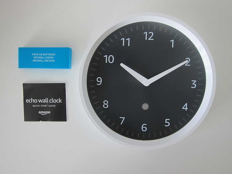Amazon Echo Wall Clock - Box Contents
