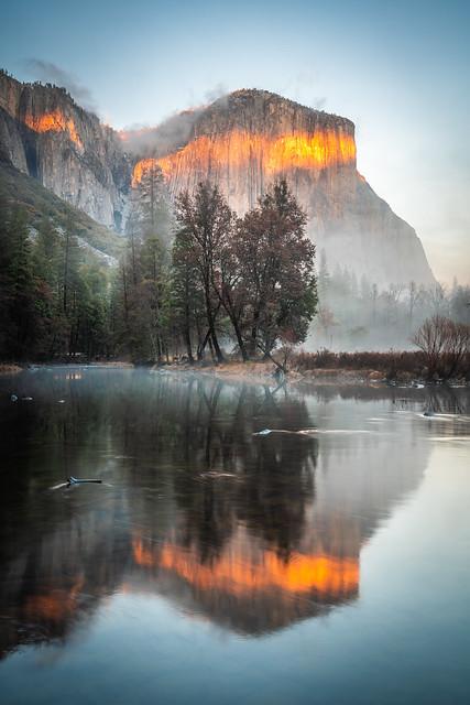 Valley View El Capitan Merced River Winter Yosemite National Park Sony A7R III California Fine Art Winter Landscape Nature Photography! High Res 4k 8K Photography! Elliot McGucken Fine Art Wild California! Sony FE 16–35 mm G Master Wide-Angle Zoom Lens!