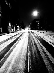 Rue Saint-Patrick Night Snow (Montreal)