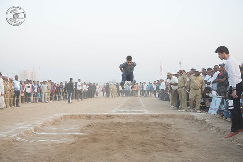 Devotees playing Ling Jump