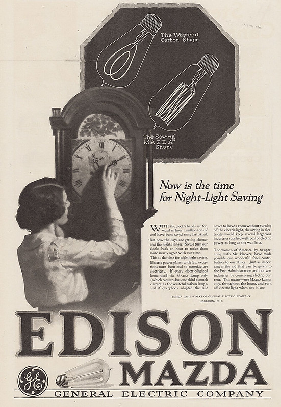 General Electric Edison, Mazda 1918
