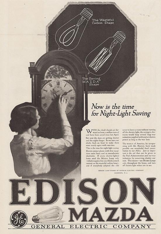 General Electric Edison, Mazda 1918