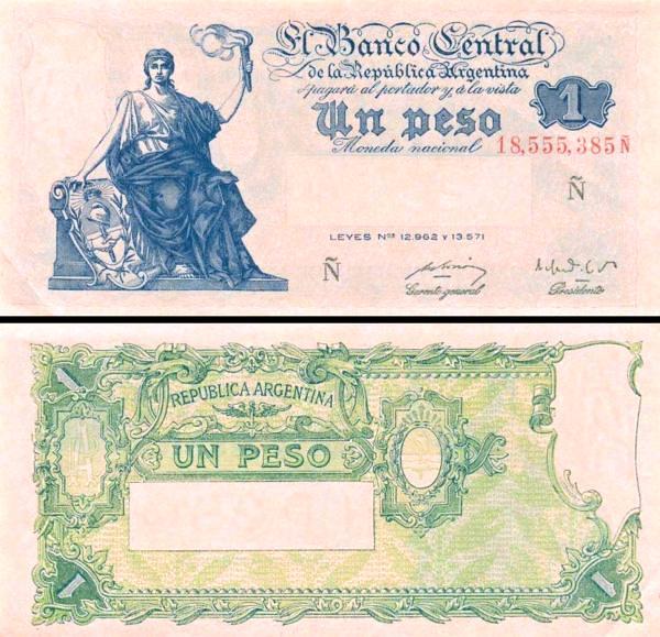 1 Peso Argentína 1951-52 P262