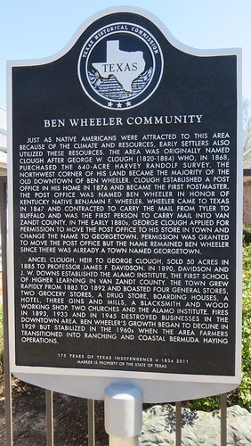 Ben Wheeler Community Marker (Ben Wheeler, Texas)