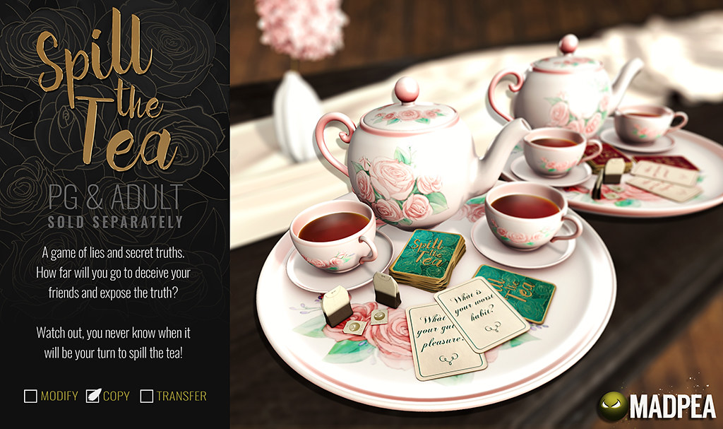 MadPea Spill the Tea Party Game - TeleportHub.com Live!