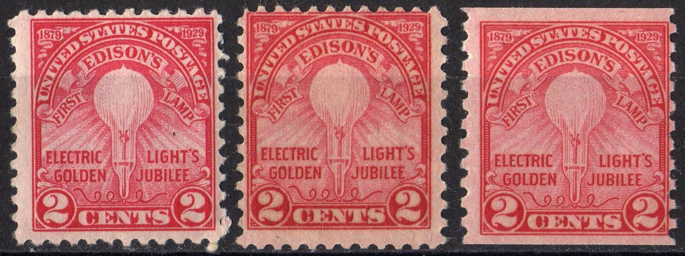 United States - Scott #654-656 (1929)