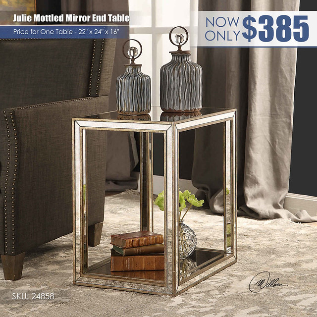 Julie Mottled Mirror End Table_24858