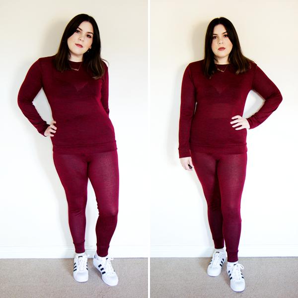 Femme Luxe Wine Loungewear Tracksuit Set