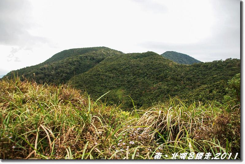 廢林道回望南湖呂(右後)
