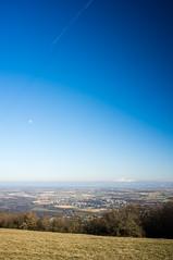 Lune et Mont-Blanc