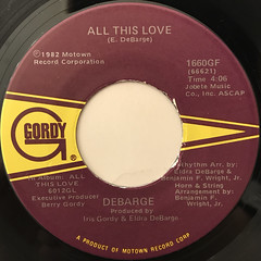 DEBARGE:ALL THIS LOVE(LABEL SIDE-A)