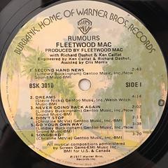 FLEETWOOD MAC:RUMOURS(LABEL SIDE-A)