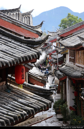 Alley, Lijiang, Yunnan, China