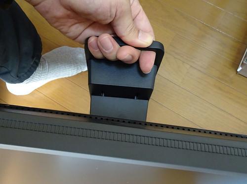 BenQ XL2546 240Hz ゲーミングディスプレイの移動用取手