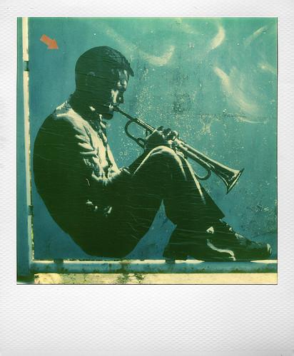 Chet Baker by  Jef Aerosol at Marquette-lez-Lille