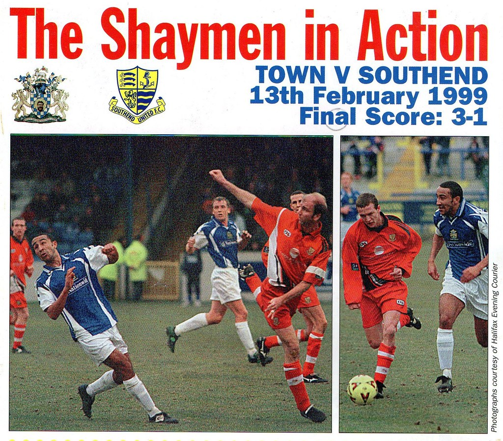 (Programme) 13-03-1999 Halifax Town 1-0 Carlisle United 9