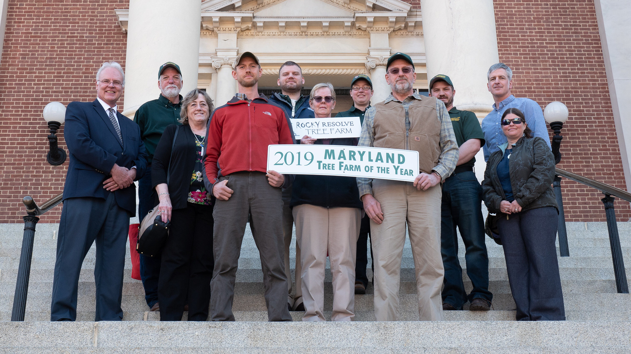 Photo of 2019 Maryland Tree Farm of the Year recipients
