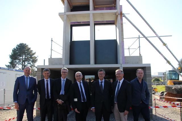 Opération Campus: pose de la première pierre du bâtiment H – Campus Montaigne-Montesquieu à Pessac