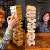 Jenga! #nasgrafischontwerp #gijs #sara #jenga #schoonhoven #zilverstad #super_holland #dutch_connextion #igers #iphoneonly #iphonese #layout #spelletjes #zaterdag #zaterdagochtend
