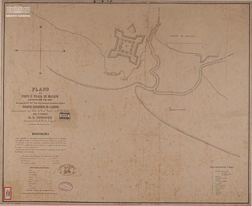 Plano do porto e da praça de Macapá