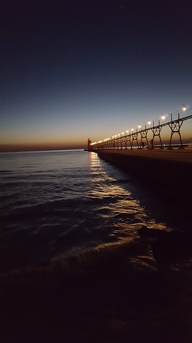 South Haven's South Beach lighthouse and pier. From 5 Places to Go by Car from Chicago