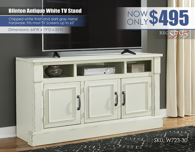 Blinton Antique White TV Stand_W723-30