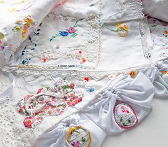 embroidered swatches, a cloth book