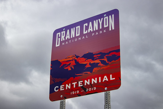 Grand Canyon Centennial Sign Install_031319