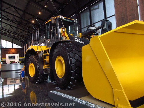 Front End Loader that you can actually climb into at the John Deere Pavilion, Moline, Illinois