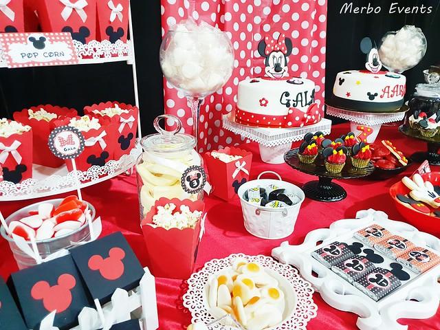 mesa dulce cumpleaños micjey y minnie Merbo events
