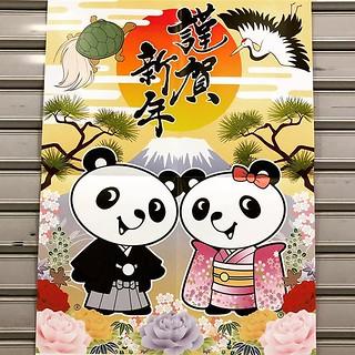 New year's panda.