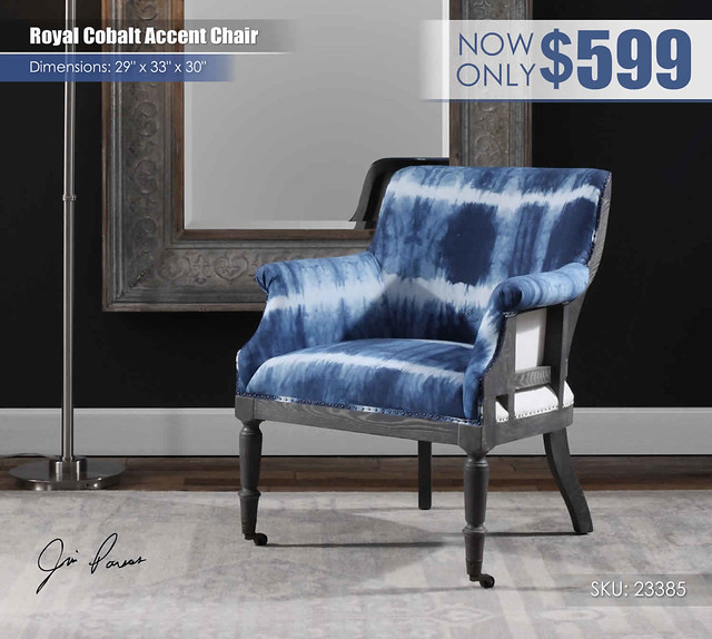 Royal Cobalt Accent Chair_23385