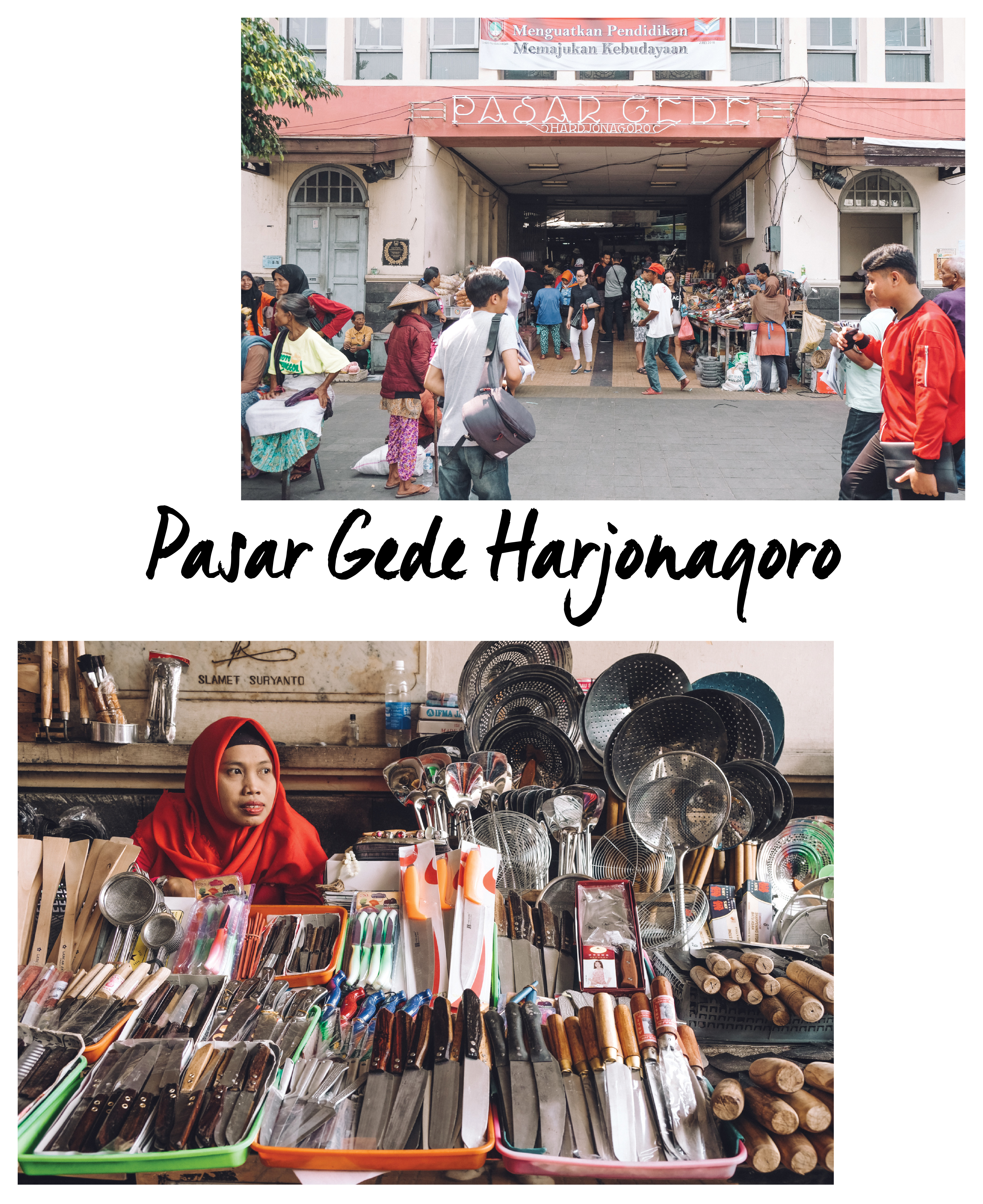 Markets are good way to soak the culture while you travel in Indonesia