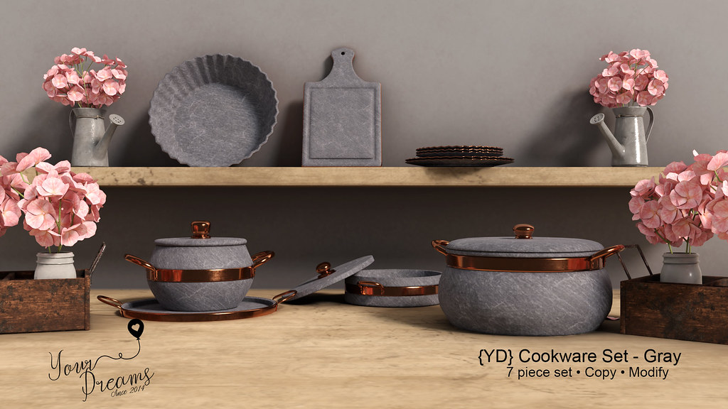 {YD} Cookware Set – Gray
