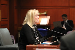 State Representative Carol Hall (R-59) testified before the General Assembly's Planning & Development Committee in favor of HB 5889 'An Act Requiring Planning and Zoning Commission Approval of Certain Solar Photovoltaic Facilities'