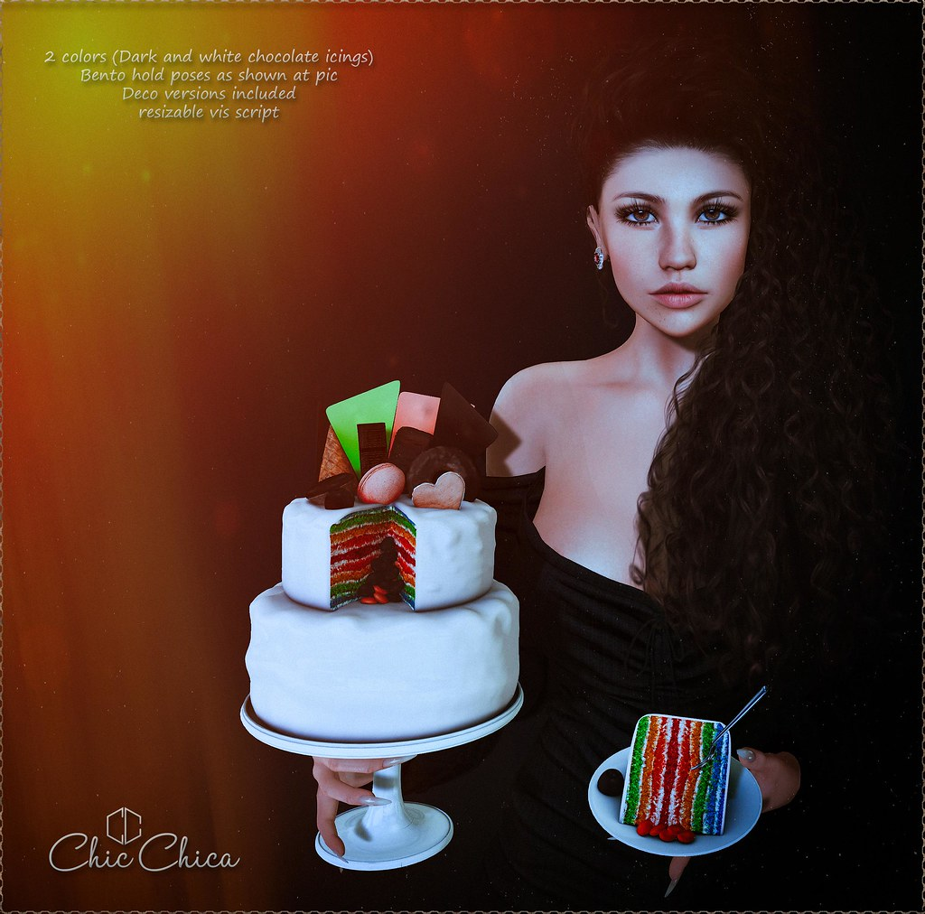 Rainbow cakes by ChicChica @ Bloom soon