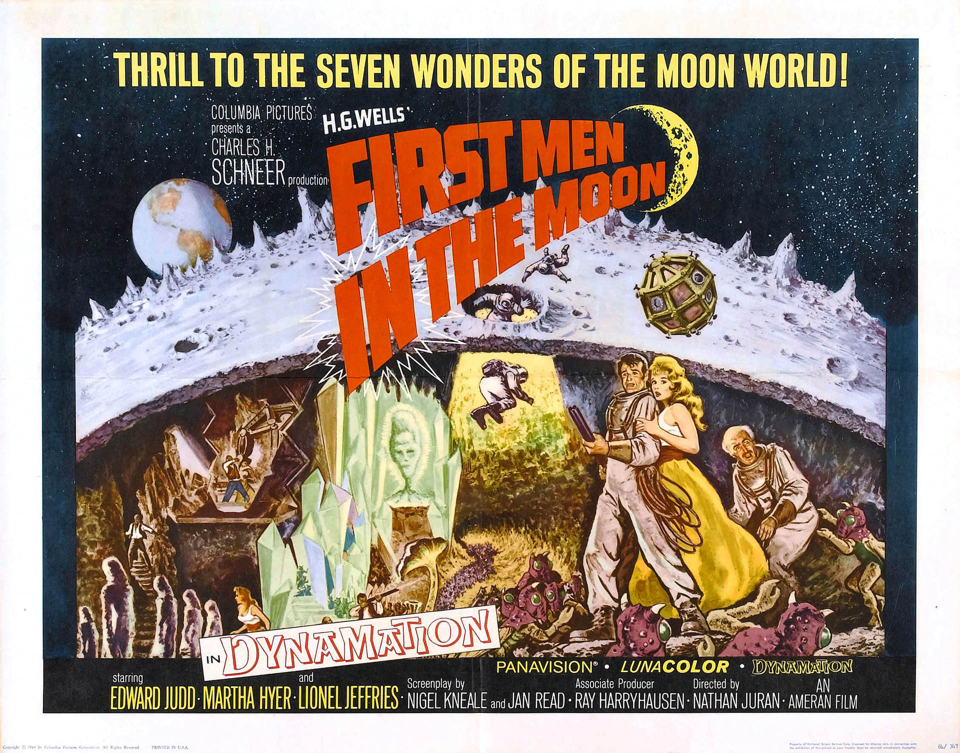 Lobby card for the 1964 film adaptation of The First Men in the Moon