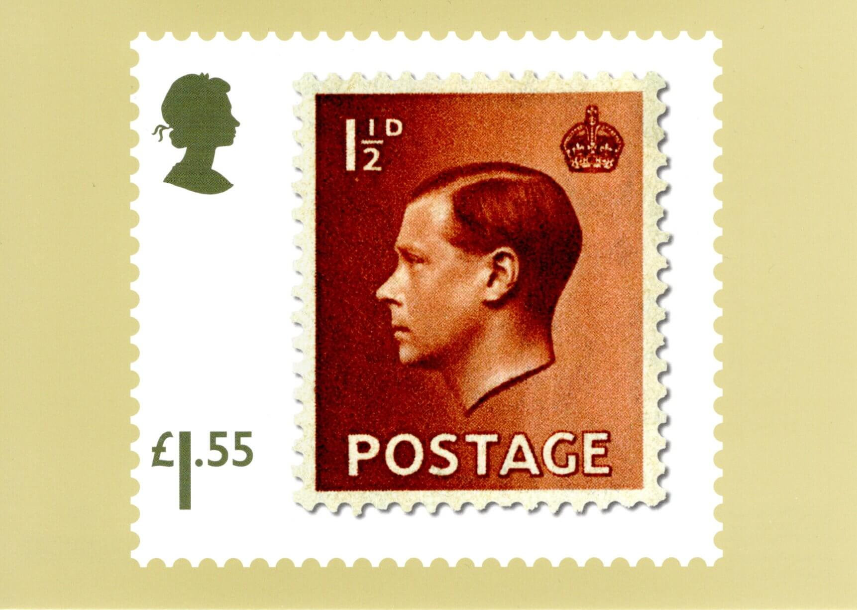 Great Britain - Stamp Classics (January 15, 2019) red brown 1½d King Edward VIII of 1936 PHQ card
