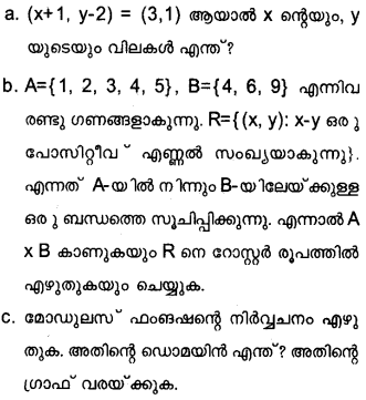 Plus One Maths Model Question Papers Paper 2Q22