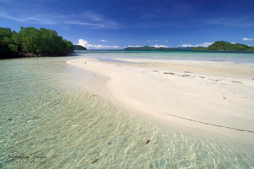 the  sandbar at SMART Island