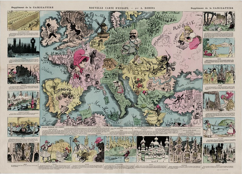 Comical map of Europe (1880) (French)