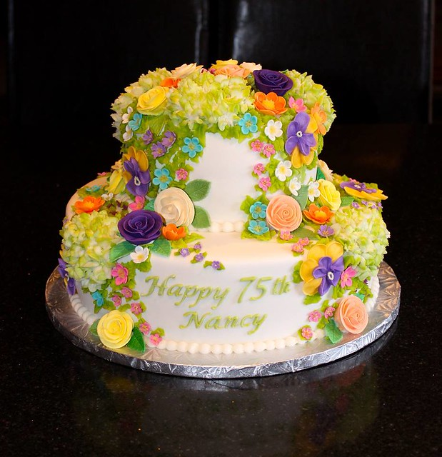 Cascade of Flowers Cake by Say It With Cake - Guelph, Ontario