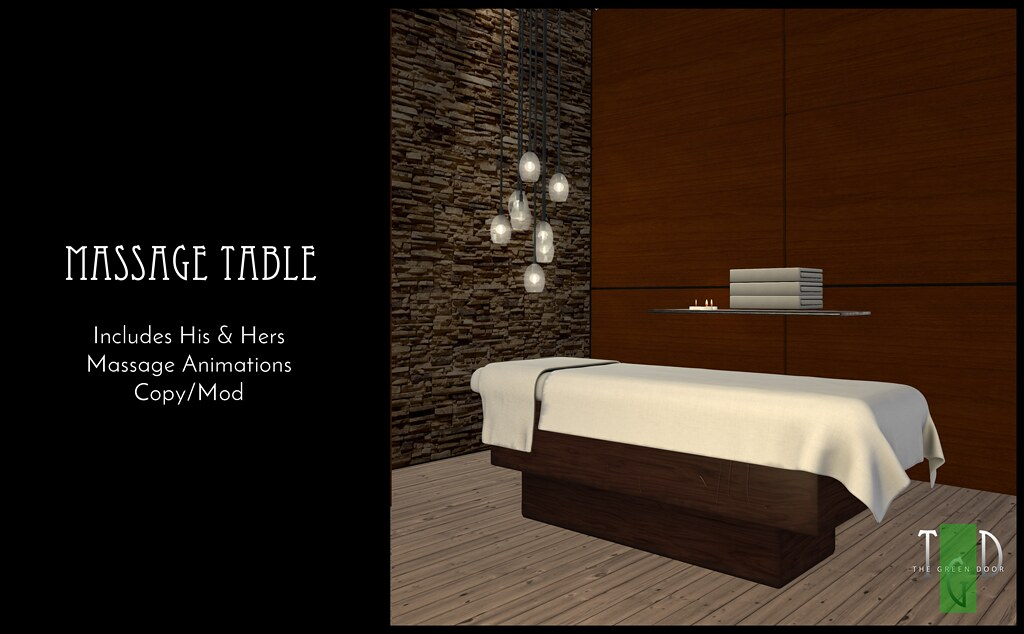 "The-Green-Door—Massage-Table MadPea Premium Alliance ""New Year, New You"" Hunt"