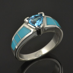 Topaz and turquoise ring CS029