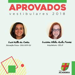 Academia em festa: mais de 80% de alunos aprovados nos Vestibulares
