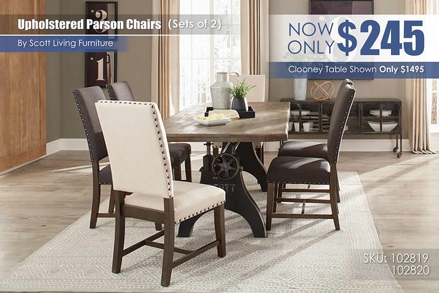 Parson Upholstered Chairs Scott Living Sets of 2_102819_102810_109111