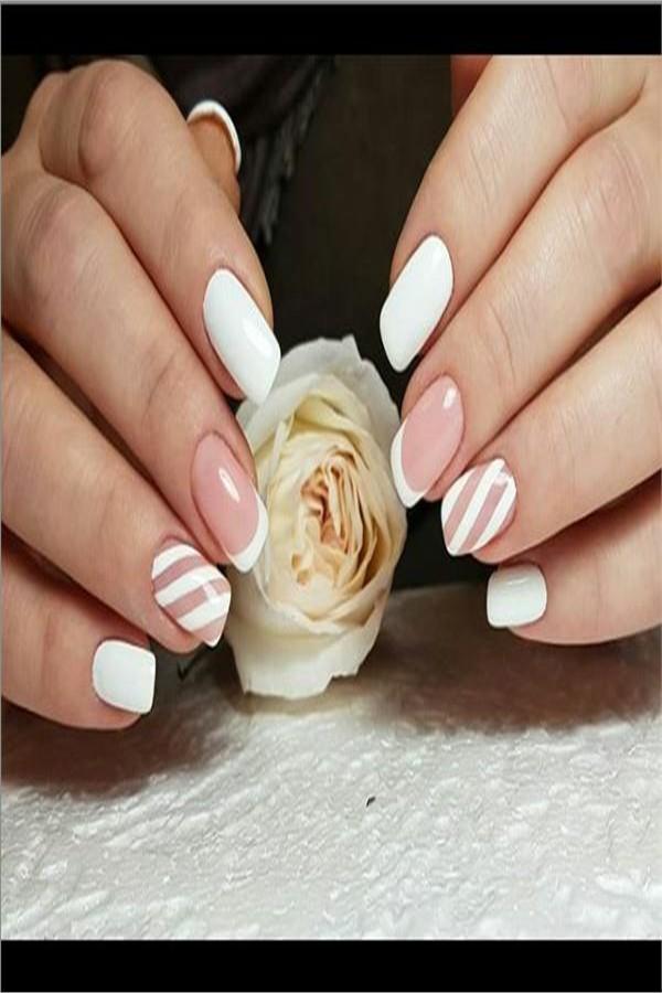 30+ Amazing White Nail Art Designs Trendy Ideas #nail_art_designs #trendy_nails #white_nails