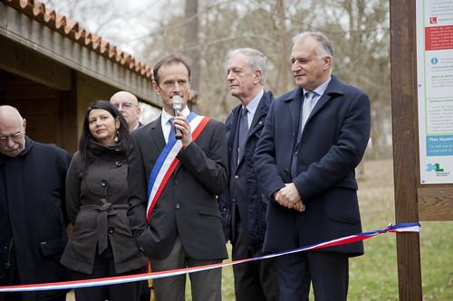 Inauguration de l'Espace Sports d'Orientation à Brocas